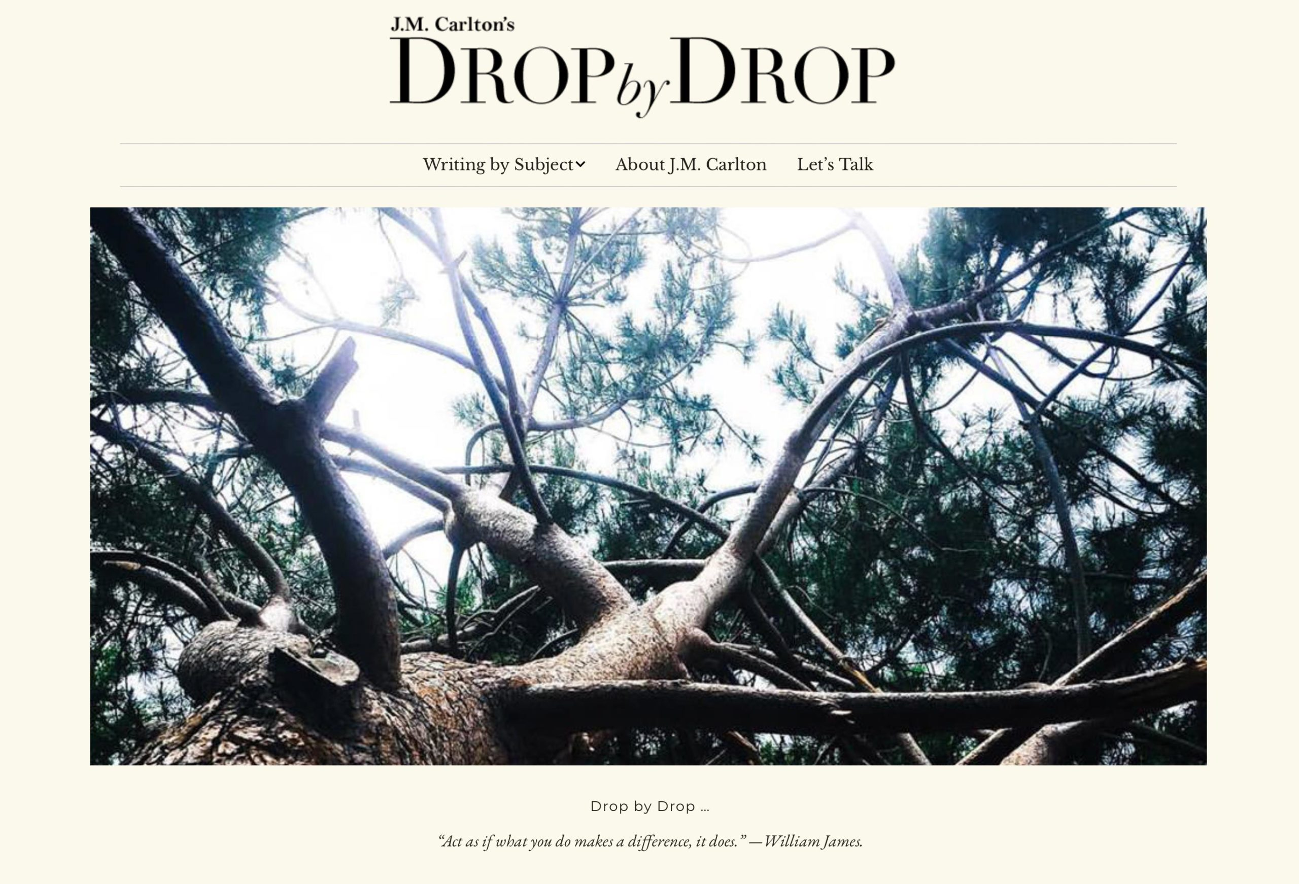 Drop by Drop and Writer J.M. Carlton